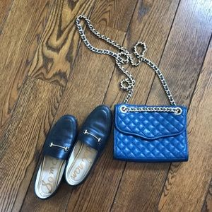 Navy quilted crossbody